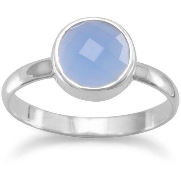 Faceted chalcedony stackable ring (608.620 IDR) ❤ liked on Polyvore featuring jewelry, rings, blue ring, facet jewelry, stacking rings jewelry, blue chalcedony ring and chalcedony jewelry