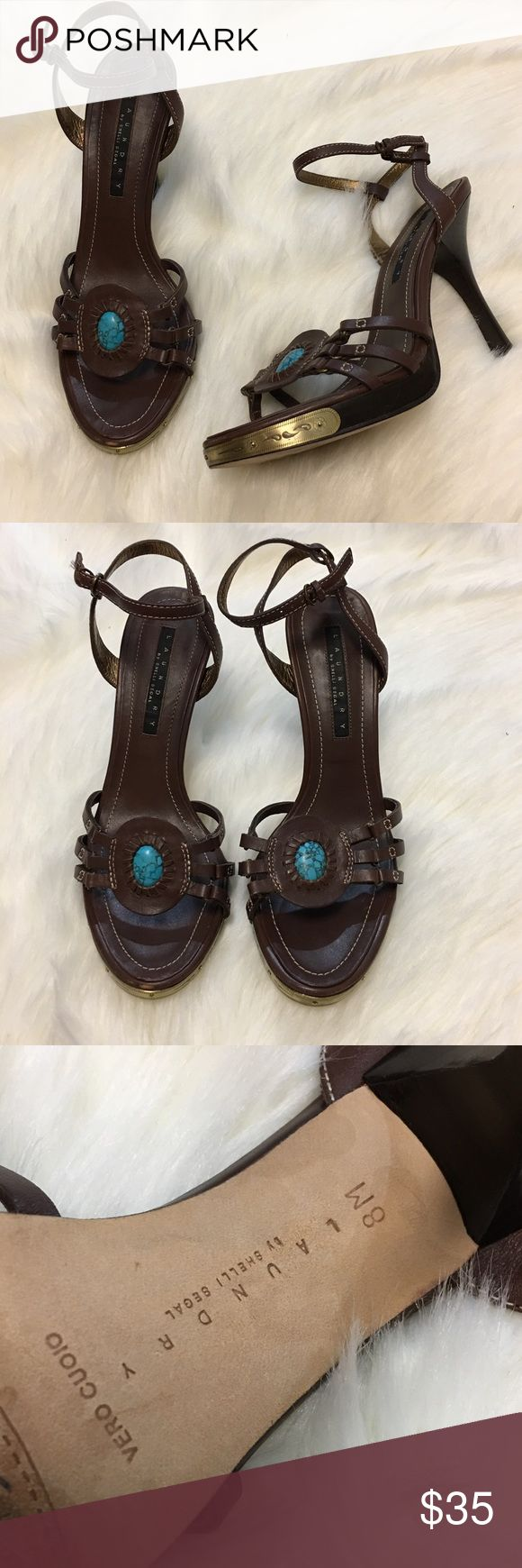"Laundry Shelli Segal Turquoise Boho Beautiful Heel Laundry Shelli Segal Turquoise Boho Beautiful Heels. Size 8.  Thank you for looking at my listing. Please feel free to comment with any questions (no trades/modeling).  •Fabric: Leather  •Heel height: 3.5""  •Condition: EUC, No major flaws.   ✨Bundle and save!✨10% off 2 items, 20% off 3 items & 30% off 5+ items! C1 Laundry by Shelli Segal Shoes Heels"