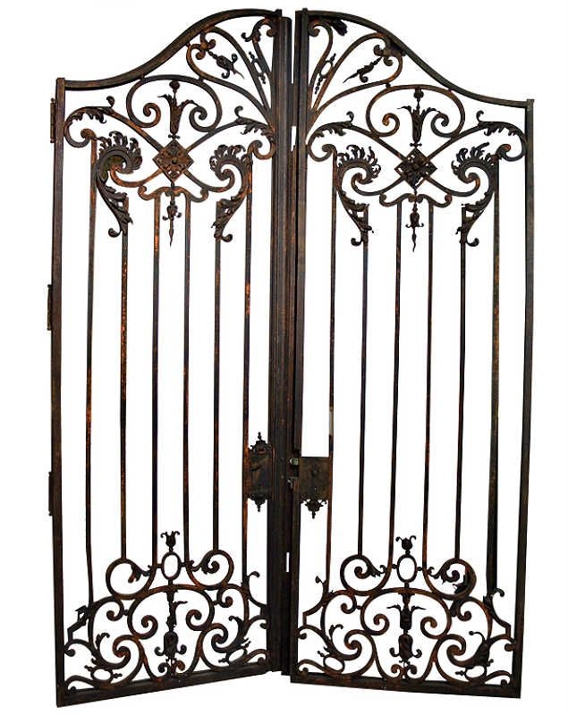 Best antique wrought iron fence images on pinterest