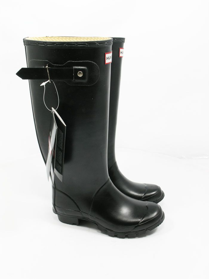 Wide Calf Black Huntress Wellies - Spin Image