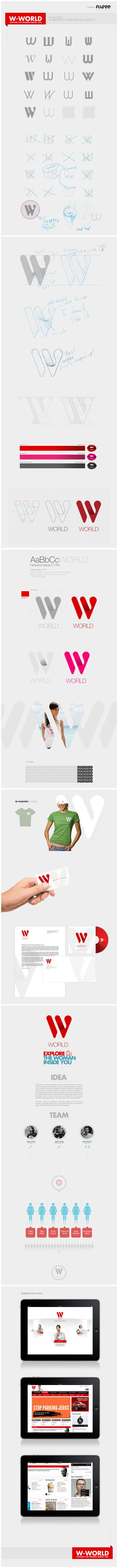 W-WORLD VI设计 #branding #graphic #design