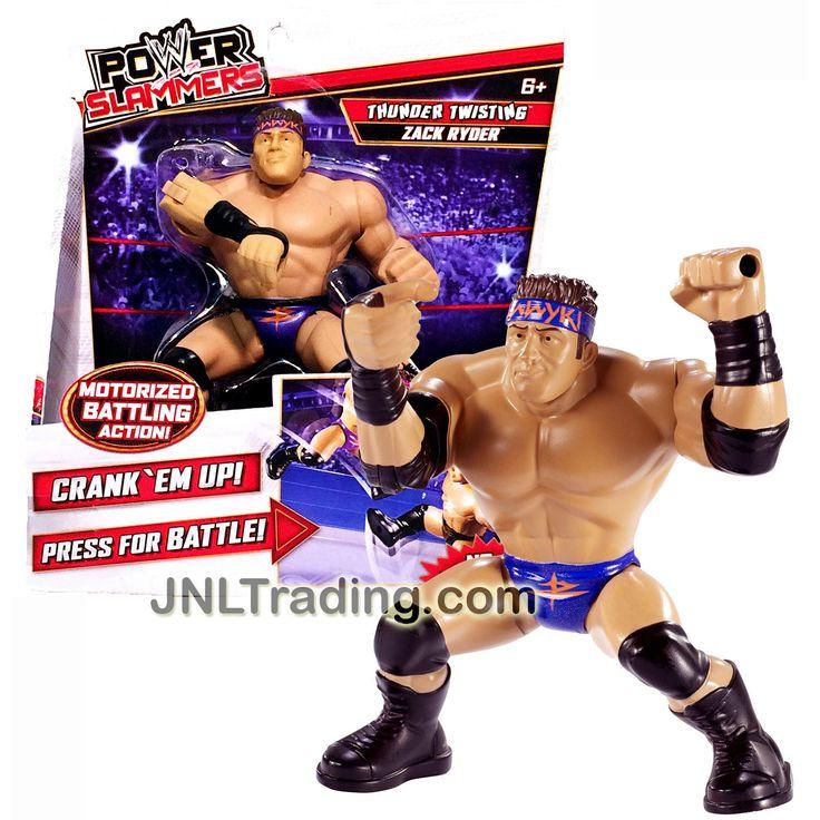 "Mattel Year 2012 WWE Power Slammers Series 4"" Tall Motorized Wrestler Battling Action Figure - Thunder Twisting ZACK RYDER (No Batteries Required)"