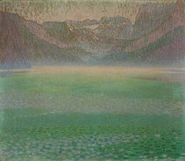 Constantine Parthenis-Lake with mist