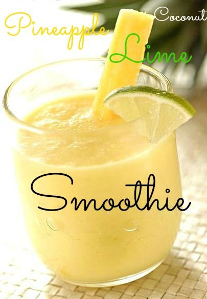 Pineapple Coconut Lime Smoothie