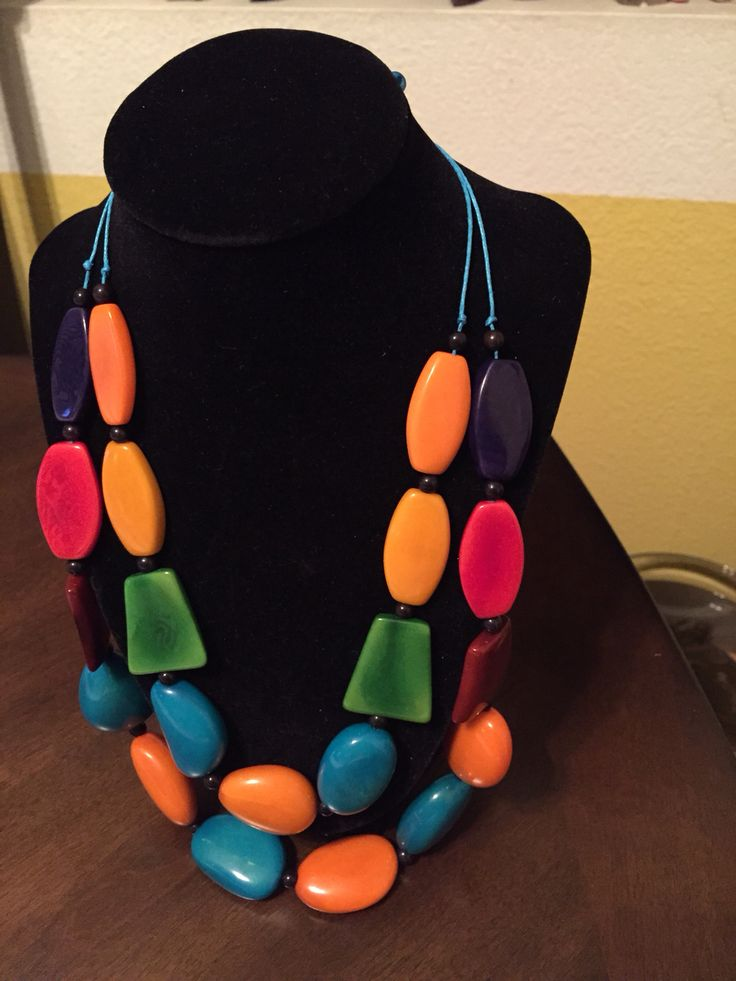 Gorgeous Colorful Tagua Necklace