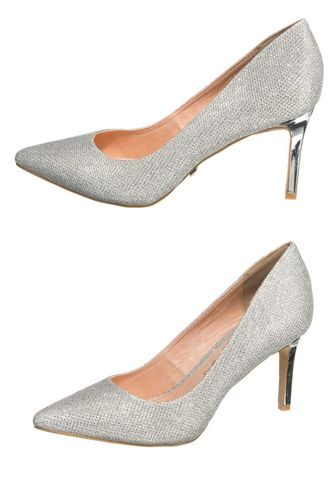Buffalo Pumps in Silber Glitzer.