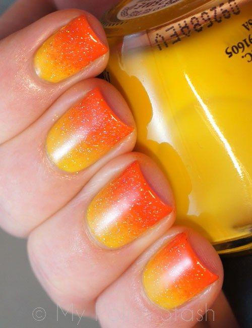 Gradient Manicure: Tequila Sunrise On My Nails | My Polish Stash