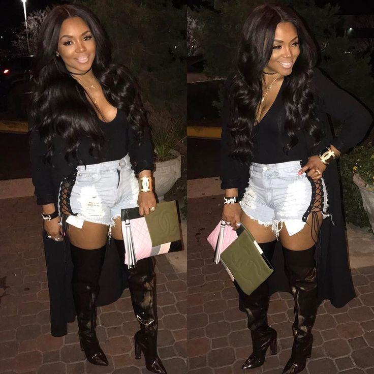 "54.3k Likes, 338 Comments - Rasheeda (@rasheedadabosschick) on Instagram: ""Fun night in Birmingham..... dressed in PRESSEDATL.COM from head to toe @pressedatl ....clutch…"""