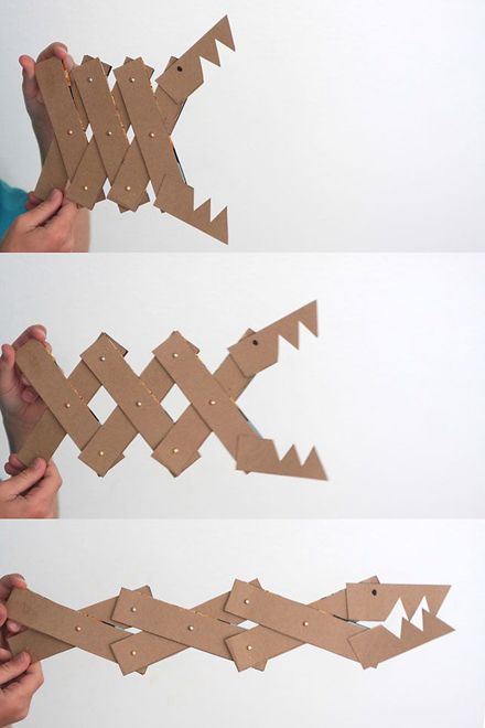 DIY cereal box monster jaws - you could probably think of all kinds of things to make like this, with the same idea