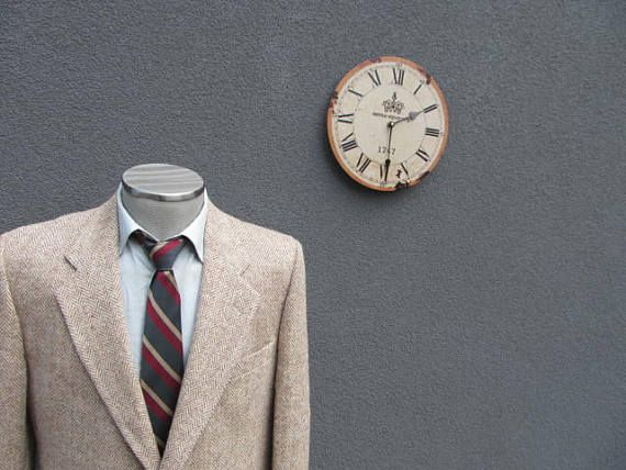 1980s Vintage HARRIS TWEED Suit Jacket / 100% Virgin Scottish