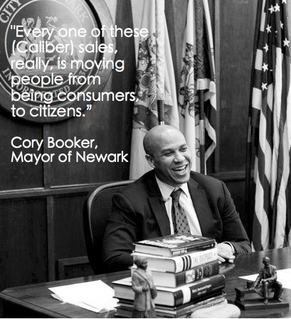 Mayor of Newark, NJ Cory Booker teamed up with Jewelry for a Cause founder Jessica Mindich to create the Caliber Collection #changeyourcaliber