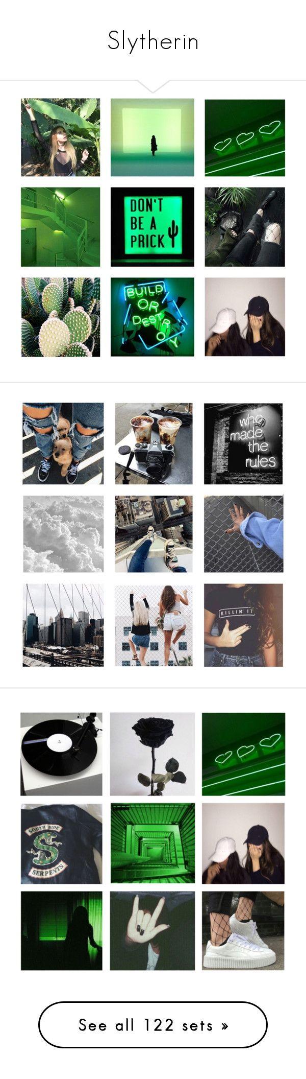 """Slytherin"" by ginga-ninja ❤ liked on Polyvore featuring art, skirts, mini skirts, bottoms, faldas, leather skirt, leather skort, real leather mini skirt, leather mini skirt and empire waist skirt"