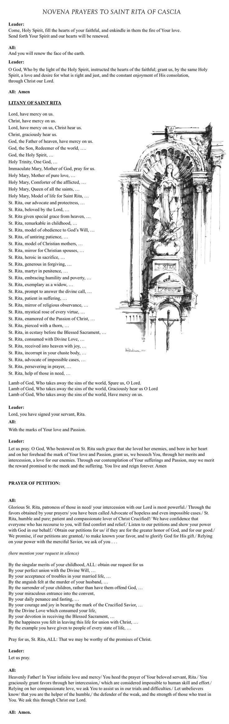 St. Rita Prayers 2