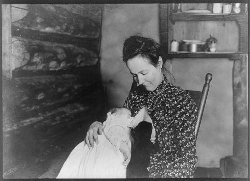 """""""The baby and the bear nursing"""" 1903 