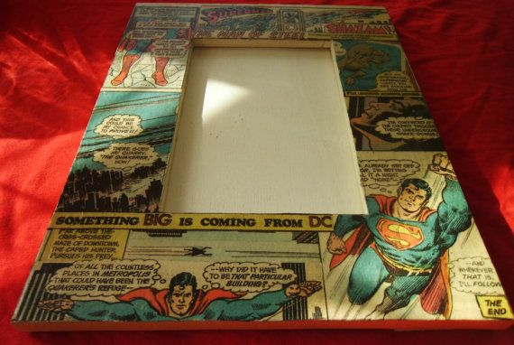 Vintage Recycled 1960s DC Comics Superman Picture Frame Hand Made Upcycled Pop Art Man of Steel. $17.99, via Etsy.