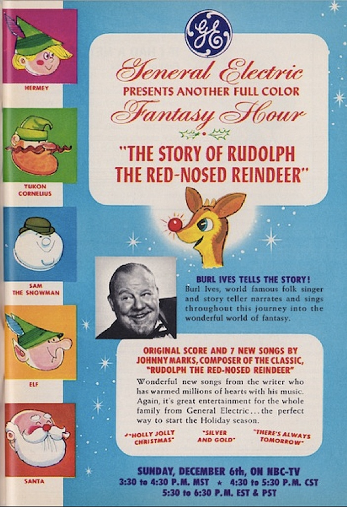 The Story of Rudolph the Red-Nosed Reindeer, a Christmas TV special produced in stop motion animation by Rankin/Bass, first aired on December , 1964 on NBC.