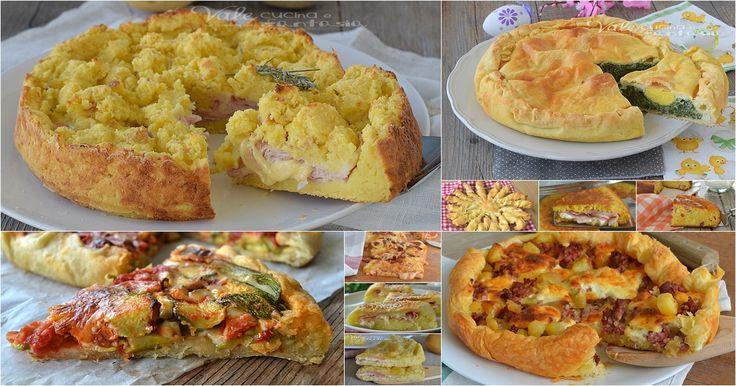 TORTE SALATE LE 15 MIGLIORI RICETTE tutte velocissime, gustose, e fatti con gli ingredienti che abbiamo in casa, ricette veloci ed economiche.