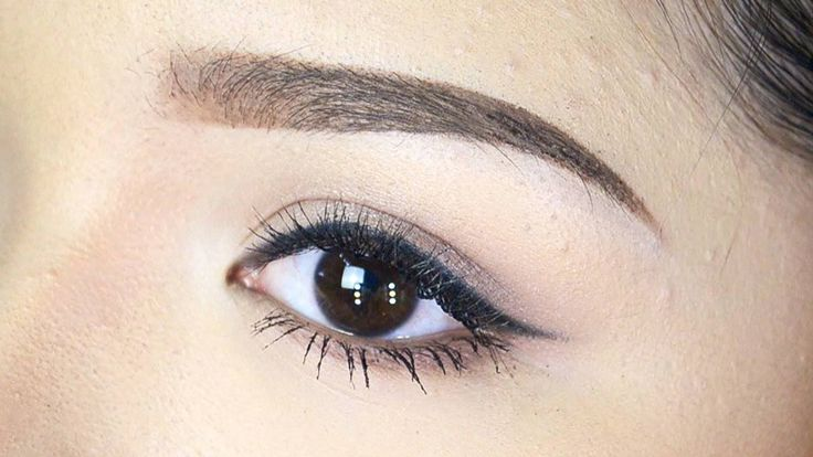Thick eyebrows asian