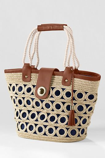 Women's Straw Market Tote Bag from Lands' End - this just screams summer - and it's from Lands End - can't beat it!