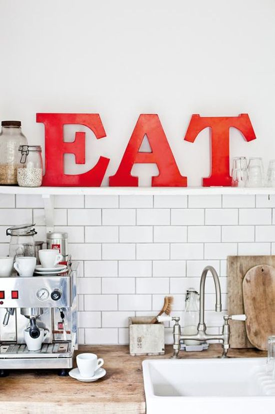 Eat sign | At Home in Love