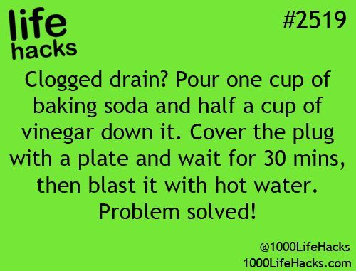 Natural drain unblocker and add 1/2 cup salt ... tested and works!: