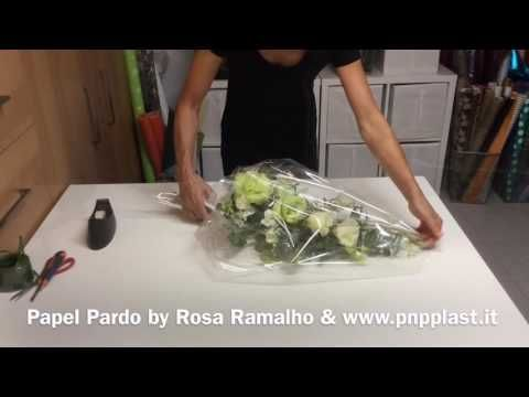 Flower Bouquet Gift Wrapping #wrappingflowers - YouTube