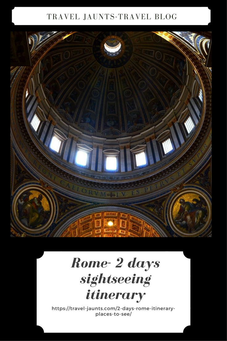2 days Rome itinerary – Places to see Latest blog post on Rome sightseeing including metro travel in Rome & Tips for booking. Places include Colosseum, Spanish steps, Vatican museums, Fontana di Trevi and more https://travel-jaunts.com/2-days-rome-itinerary-places-to-…/ #Rome #Italy #RomeSightseeing #2daysItinerary #Placestosee #Vatican #Italianart #Travelinginrome