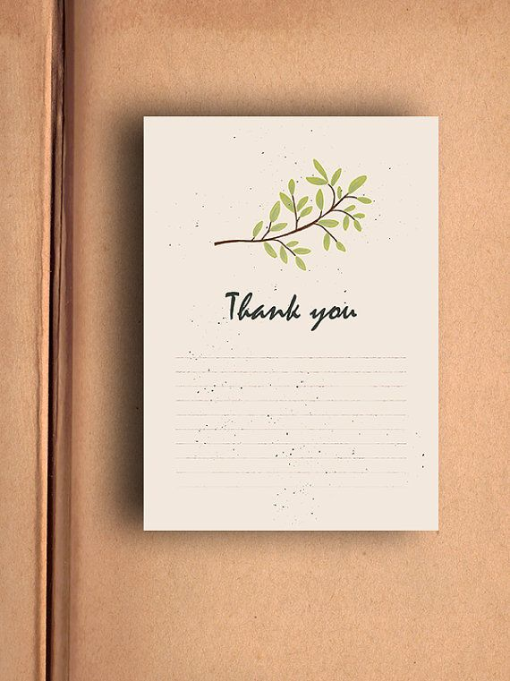 Printable Thank You Card - Instant download by AlexeiDesign on Etsy $4.21