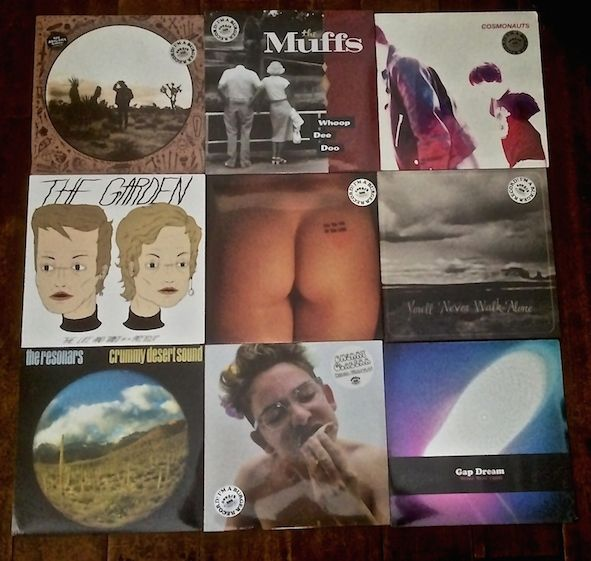 "Just out of the box. New BURGER & restocks. New BURGERS from THE ABIGAILS, THE MUFFS, THE GARDEN, GAP DREAM, CHERRY GLAZERR. Represses & restocks from NATURAL CHILD, THE RESONARS, COSMONAUTS, BURNT ONES. Preorders out tomorrow. Sorry NATURAL CHILD ""Dancin With Wolves"" has now sold out. Get in fast as some of these are flying out."