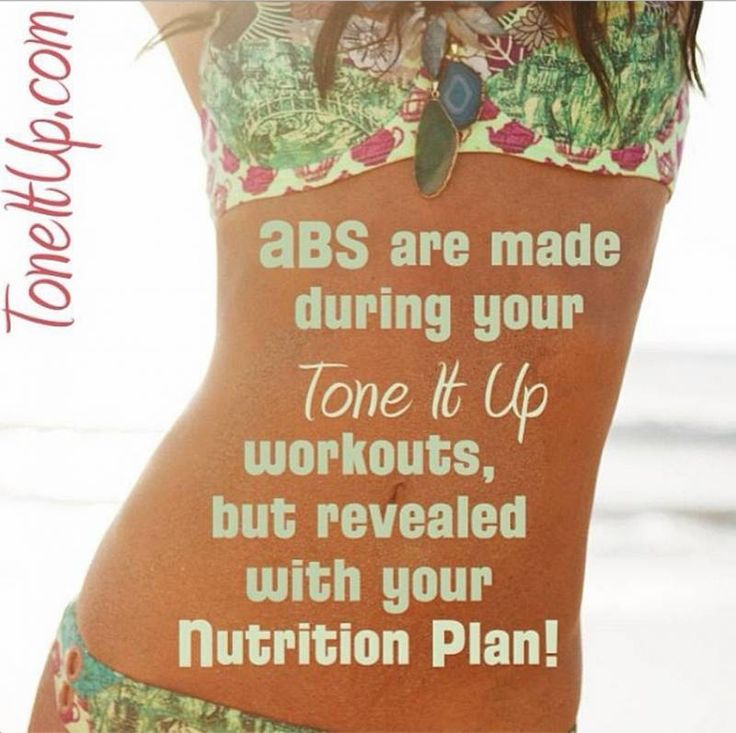 Abs are made during your Tone It Up workouts, but revelaved with your Tone It Up Nurtrition Plan!