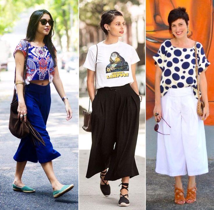 Popular na Europa já há alguns anos, a Pantacourt – também conhecida como culotte ou apenas bermuda mídi – como o próprio nome diz, é uma pantalona curta!  Descubra como usar!