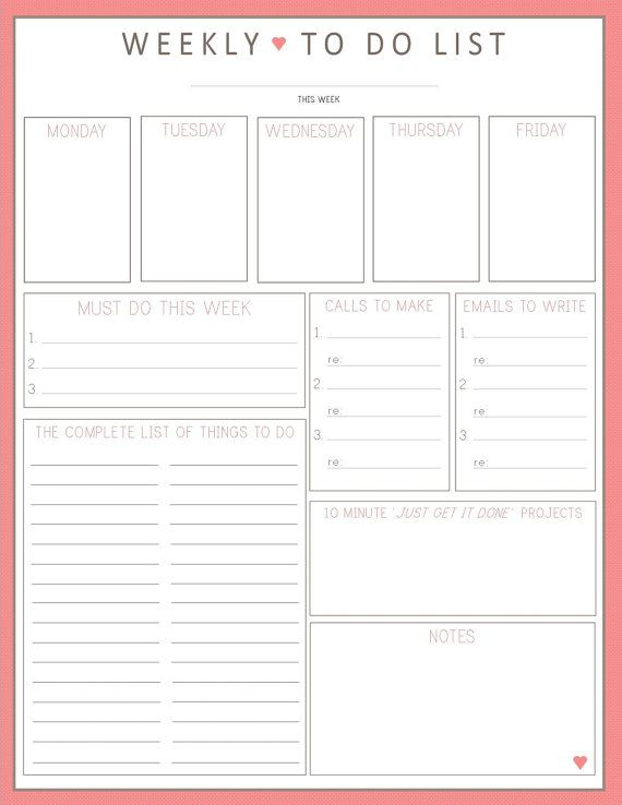 91 best Printable To Do List images on Pinterest Free printables - christmas to do list template