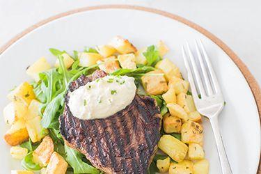 Empire steak grill - bourbon beef with horseradish cream.