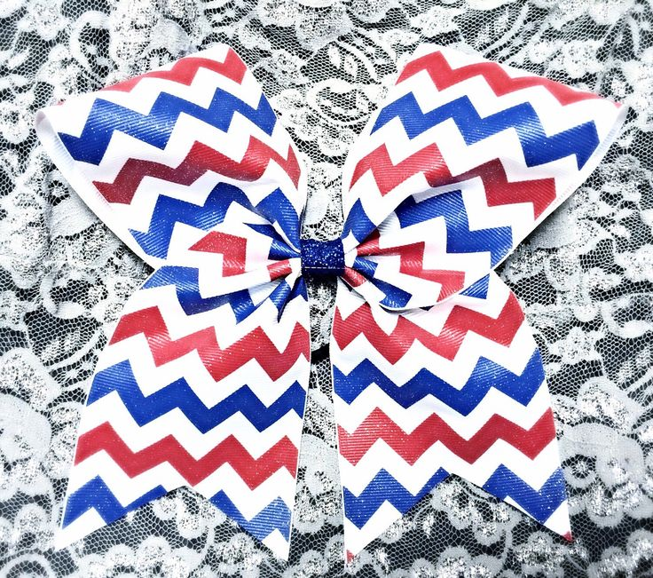 Red White and Blue Glitter Chevron Cheer bow/ Glitter Chevron cheer bows/ Red Royal and White chevron cheer bow by GirlyThingsandBlings on Etsy https://www.etsy.com/listing/237402112/red-white-and-blue-glitter-chevron-cheer