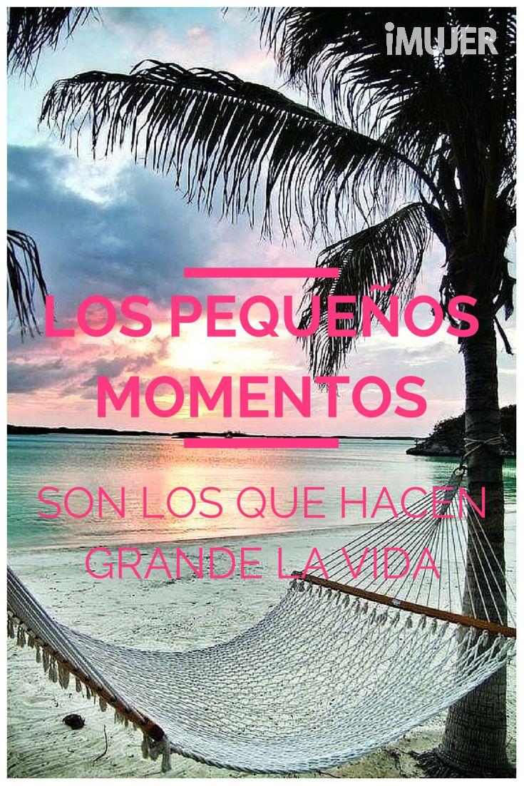 #Frases Los pequeños momentos son los que hacen grande la vida.