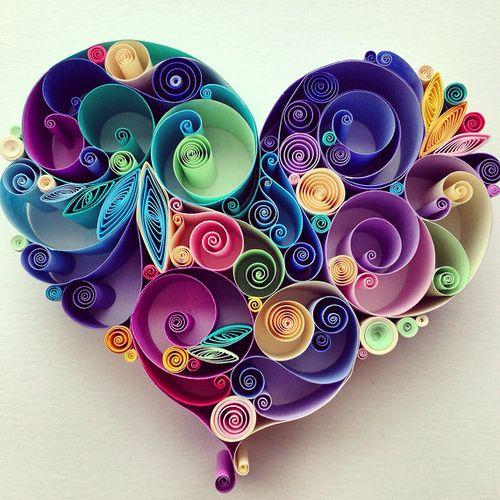 Quilled Heart by Sena Runa