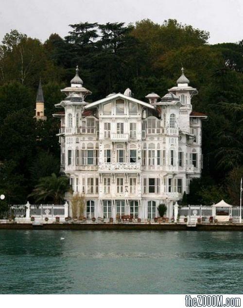 Seaside House on the Bosphorus in Istanbul, Turkey