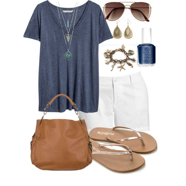 Summer Casual - Plus Size, created by kerimcd on Polyvore