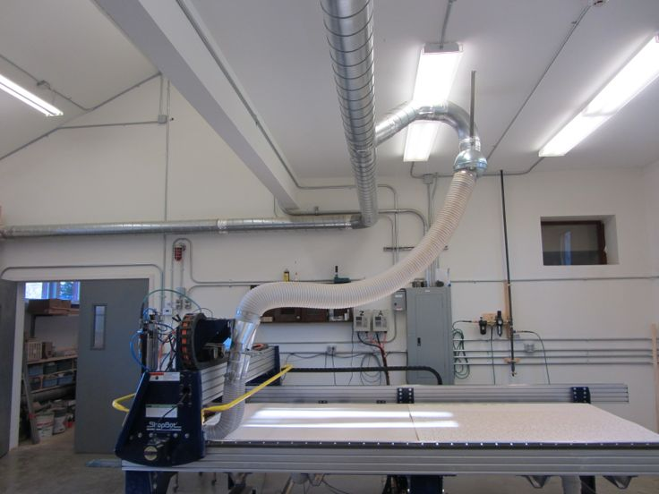 Cnc Router With Dust Collection Including Ball Joint And
