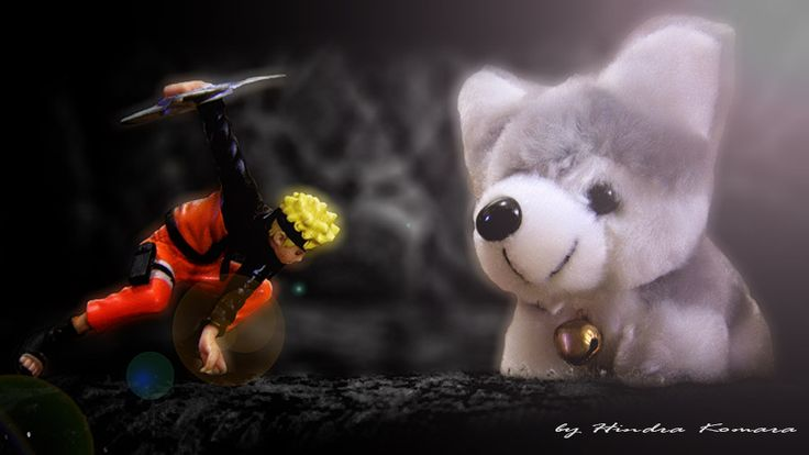 """My Toys, Naruto vs Dog """"Ilustration"""" At Home, Sumedang, West Java, Indonesia"""