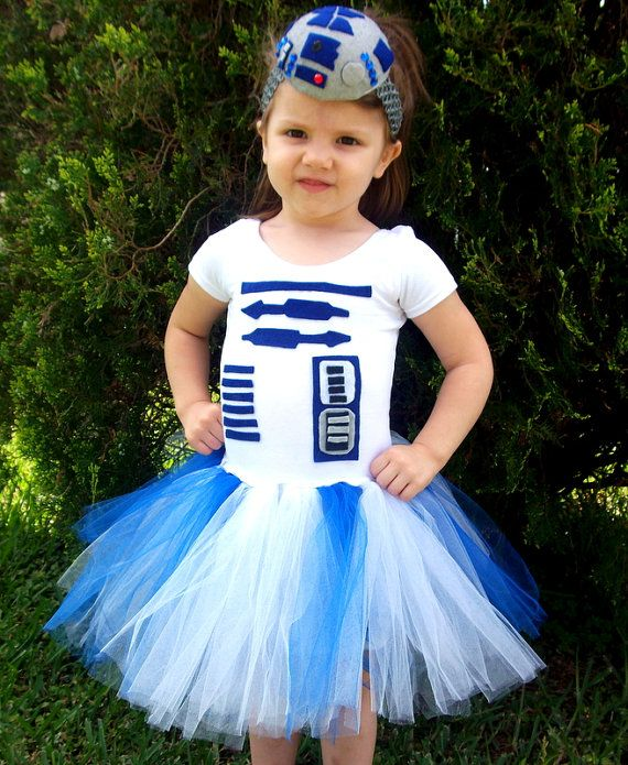 R2D2 inspired tutu dress from Star Wars by GlitterprincessGalor