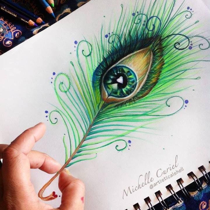 An eye or a peacock feather?