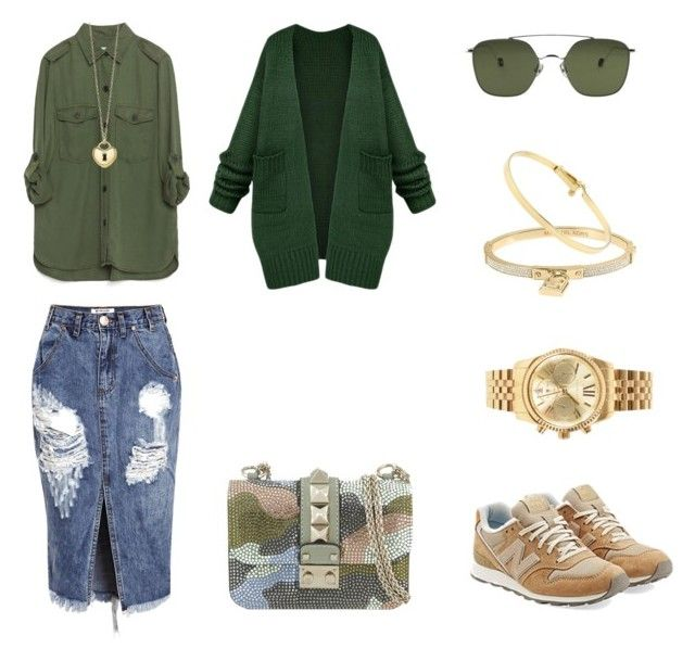 """""""Military+city casual"""" by trend-brand ❤ liked on Polyvore featuring Valentino, One Teaspoon, Zara, Michael Kors, Tiffany & Co. and New Balance"""