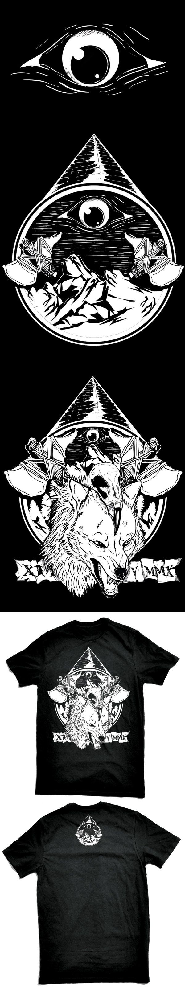 Story of Wolf by luigi oriza, via Behance