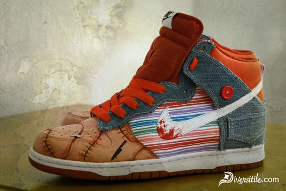 Chucky Good Guys Doll Childs Play Nike Dunk Shoes