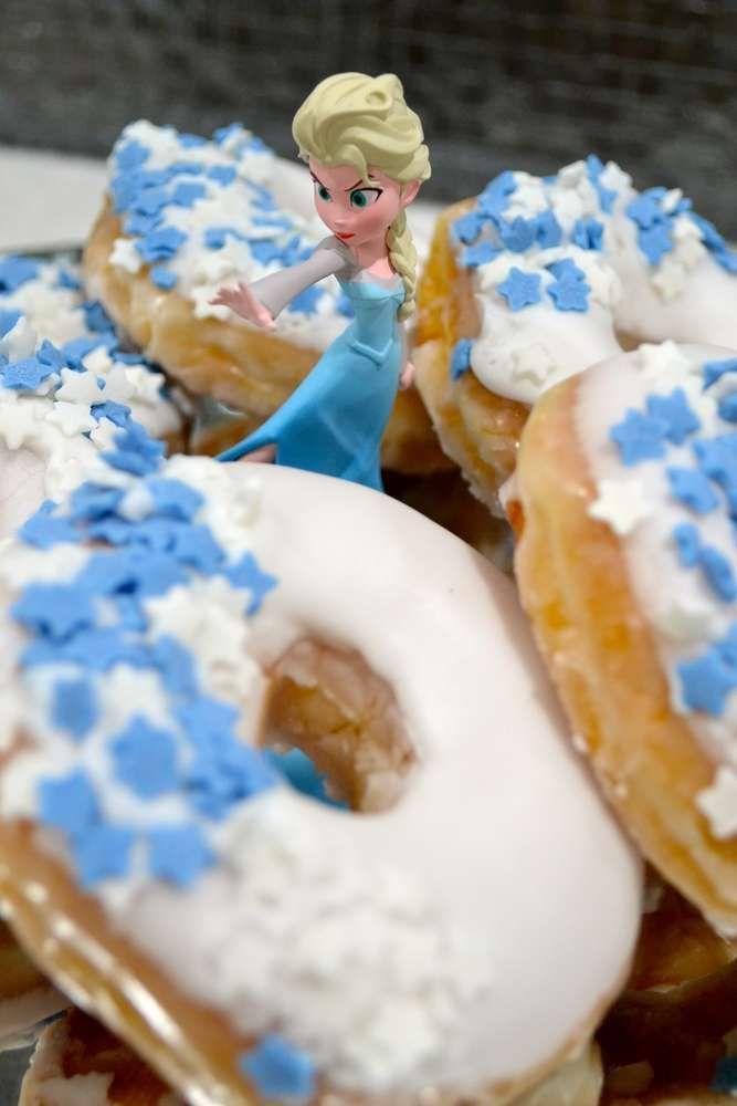 #Frozen #BirthdayParty #donuts