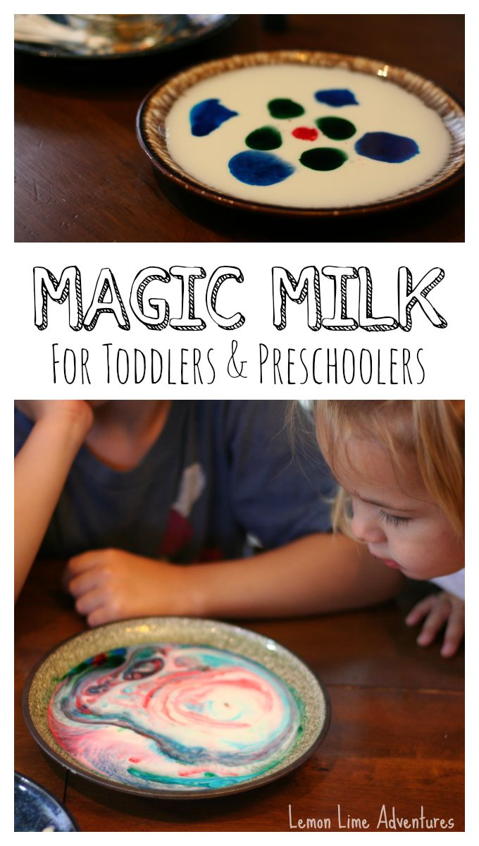 Magic Milk for Toddlers and Preschoolers with Palmolive Dish Soap |