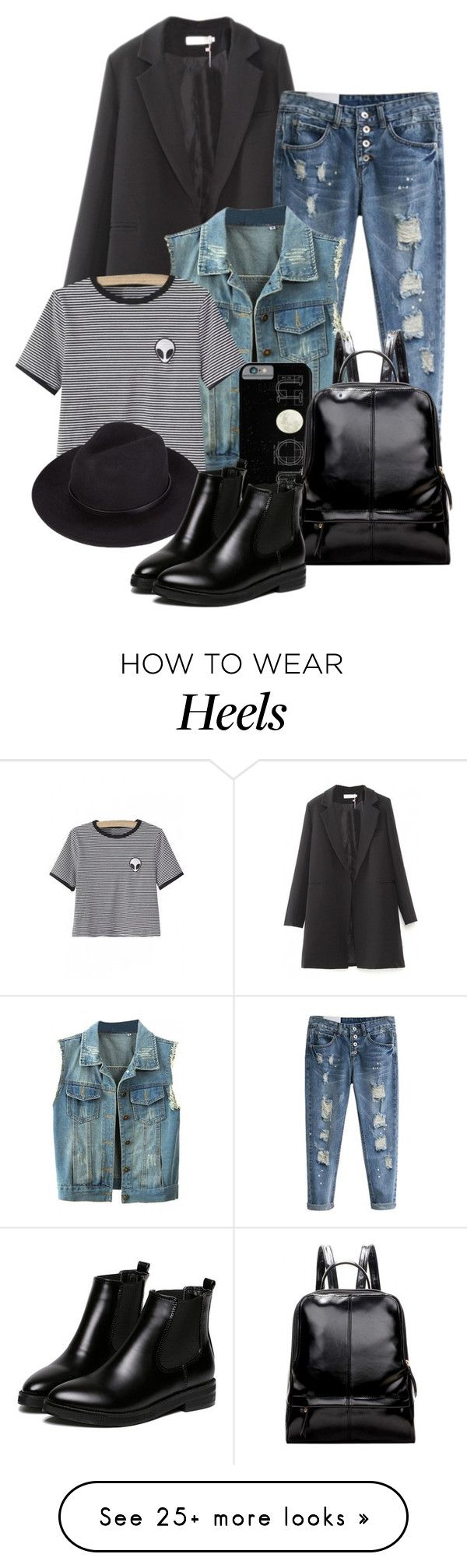 """""""Street Style _ Beautiful Halo"""" by by-jwp on Polyvore featuring WithChic, women's clothing, women's fashion, women, female, woman, misses, juniors and beautifulhaloz"""