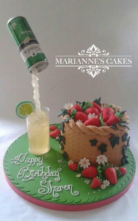Gin And Tonic Strawberries In A Basket Strawberry Cake