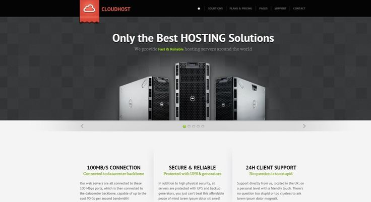 Hosting WordPress Theme Cloud Host